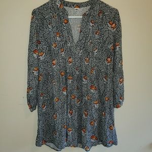 Floral Long Blouse/Short Dress - Old Navy